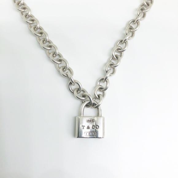 3b3bcad0e521d Auth. Tiffany & Co. 1837 Lock Necklace